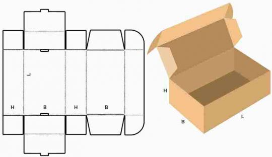 маленькая коробка с ушками типа самолет